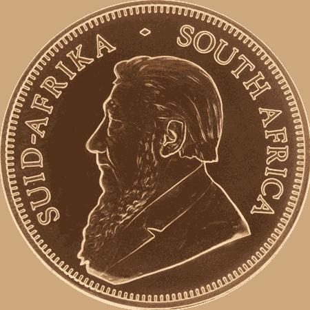 1 oz South African Gold Krugerrand coin - Obverse