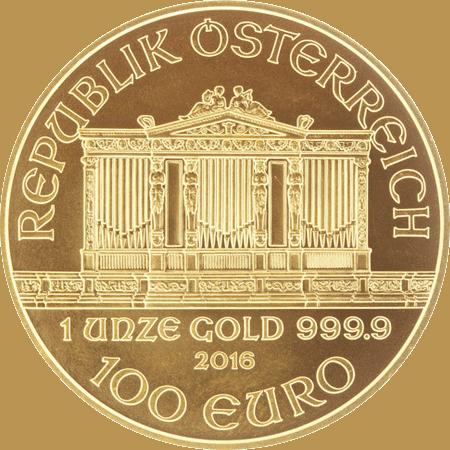 Gold Philharmonic coin 1 oz - Obverse