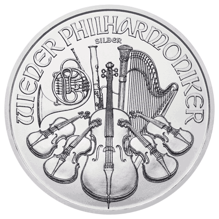 Silver Philharmonic Coin - Reverse