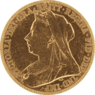 Gold Sovereign back