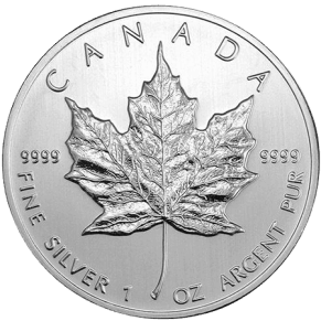 Canadian Silver Maple Leaf coin obverse